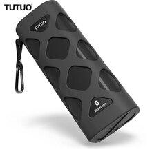 Tutuo Bluetooth Динамик NFC Портативный Беспроводной Водонепроницаемый Hi-Fi стерео аудио открытый музыкальный плеер для iphone Тетрадь ПК (черный)