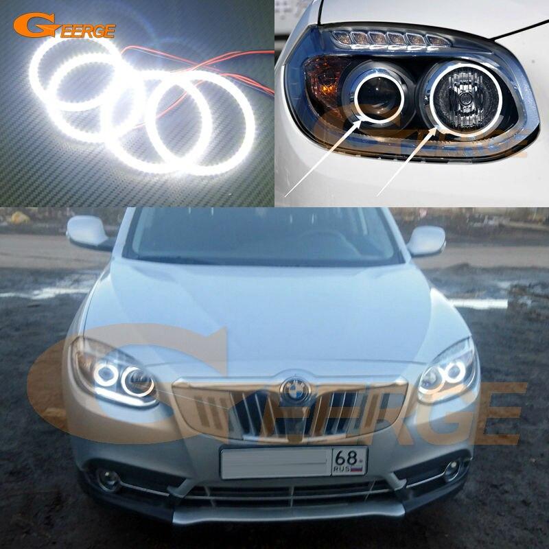 Для Бриллианс V5 в 2011 2012 2013 2014 отличная глаза Ангела Ультра яркое освещение Сид SMD глаза Ангела комплект гало кольцо