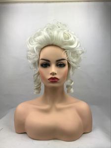 Image 1 - גבוהה באיכות מארי אנטואנט נסיכת בינוני מתולתל פאת קוספליי עמיד בחום סינטטי שיער קוספליי פאות + כובע פאה