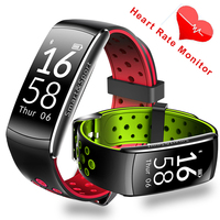 2017 Newest Heart Rate Monitor Sport Smart Band Wearable Devices Step Sleep Swimming Ip68 Waterproof Pk