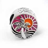Подходит Pandora браслет оригинальный серебряные бусины 925 пробы Тропический Закат серебряный шарм для женщин подарок DIY Ювелирные изделия kralen...