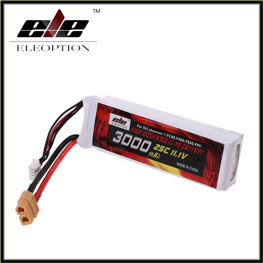 3000mAh 11.1V Lipo Li-Po Battery 25C XT60 Plug for DJI Phantom 1 FC40 F45 F550 аккумулятор traxxas 2200мач 7 4в 2 cell 25c li po battery id plug