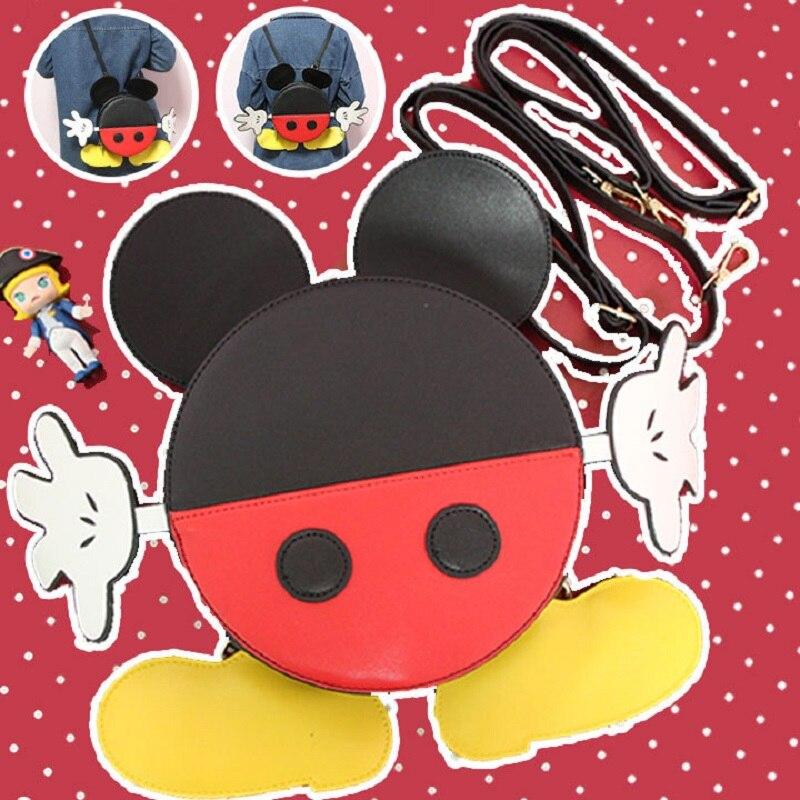 Милый мультяшный Микки мышь Плюшевый Рюкзак Kawaii для женщин девочек Детская сумка через плечо школьные сумки подарки на день рождения