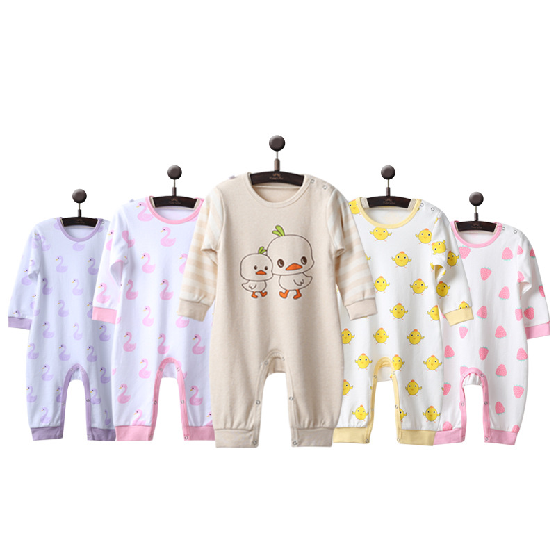 5 PCS/Lot Newborn Baby Romper Long Sleeves 100% Cotton Toddler Pajamas Cartoon Printed Infant Boys Girls Jumpsuit Clothes LTY001 cotton infant romper newborn overall kids striped fashion clothes autumn baby rompers boys girls long sleeves jumpsuit