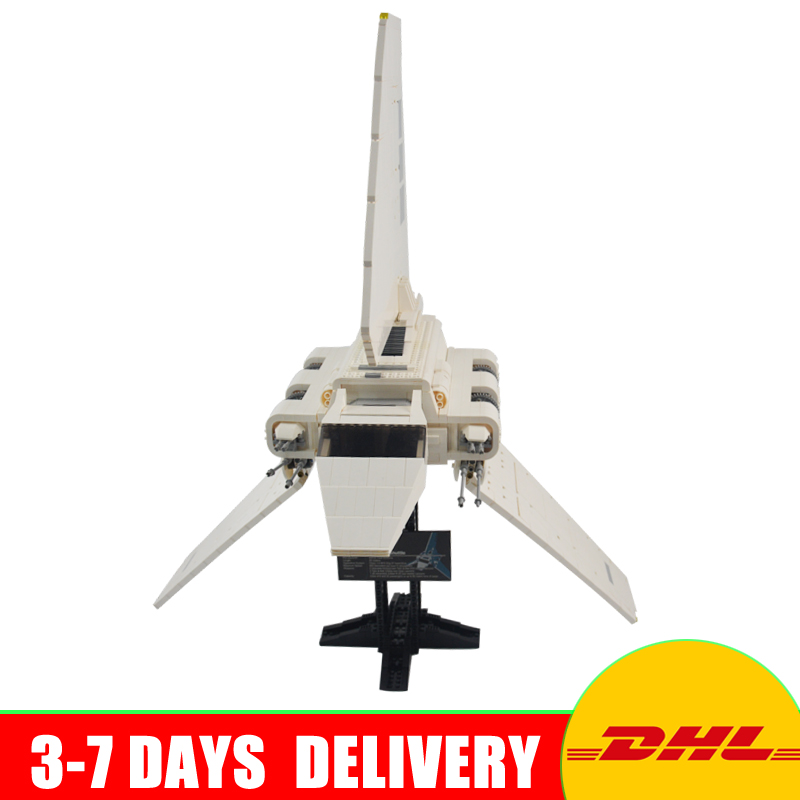 In Stock DHL LEPIN 05034 UCS Series The Imperial Shuttle Building Blocks Bricks Set Assembled Toys  Clone 10212 dhl fast shipping 1990pcs lepin 05047 ucs ewok village building blocks juguete para construir bricks toys compatible 10236