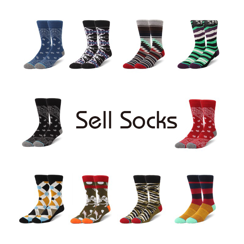 Clearance! Men's Socks New  High Harajuku Street Dead Flying Sock Fashion Thick 39-44