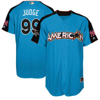 MLB Men S American League Aaron Judge Baseball Blue 2017 MLB All Star Game Authentic Home