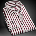 2016 Spring And Autumn New Brand Fashion Business Striped Long Sleeves Camisa Masculina Casual Cotton Men's Dress Shirts