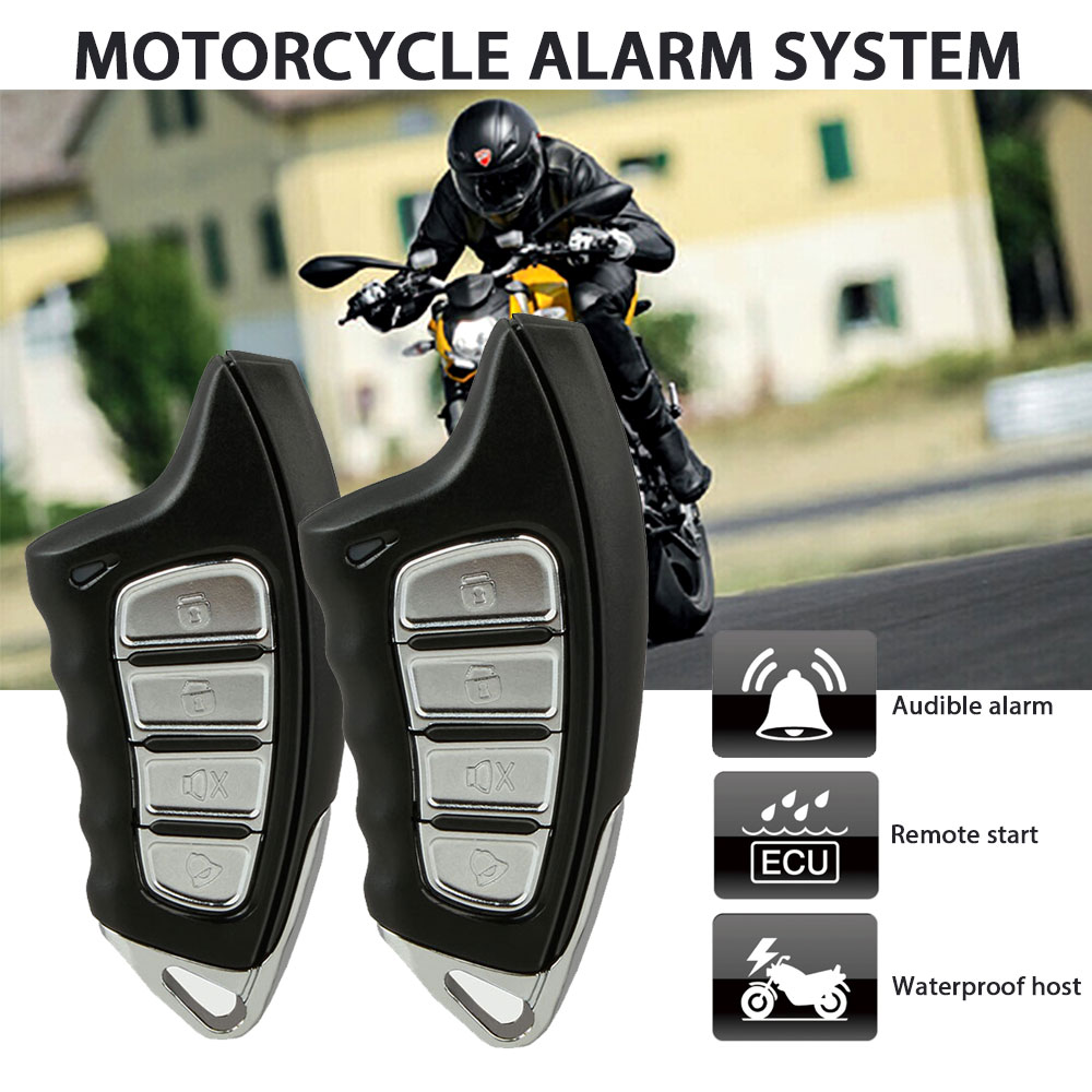 Motorcycle Security Alarm System Detecting Anti-hijacking Motorbike Theft Protection Remote Engine Start