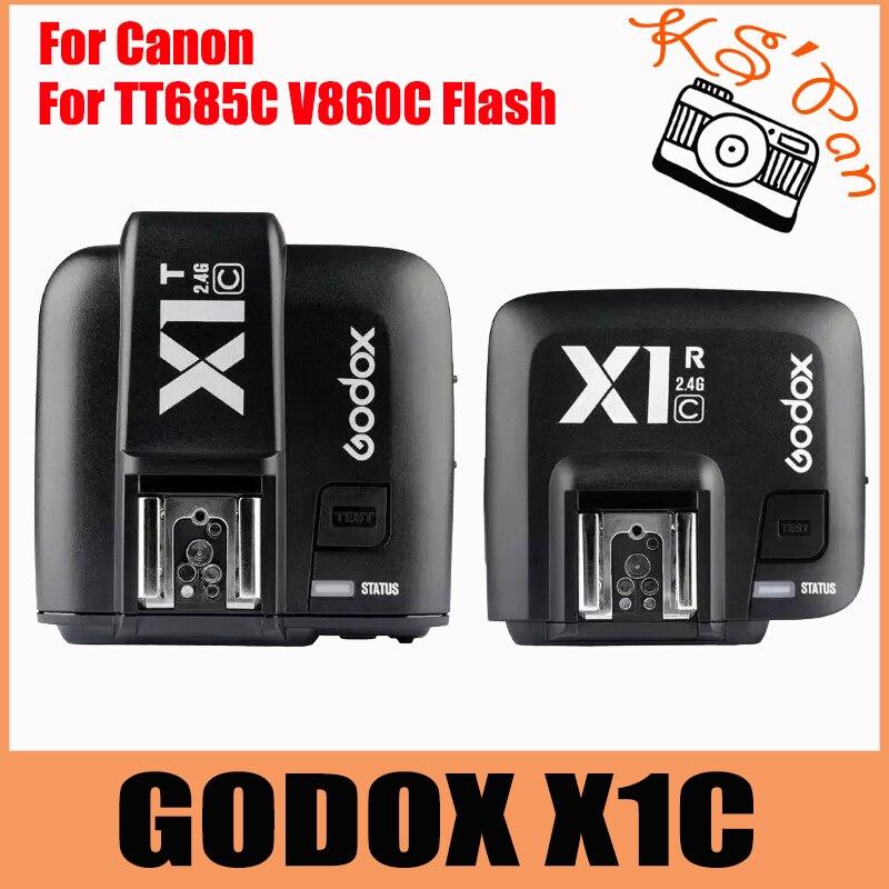 Godox E-TTL 2.4G Wireless Flash Trigger X1C For Canon 6D 7D 60D 650D 700D 5DIII TT685C V860C Flash speedlite yn e3 rt ttl radio trigger speedlite transmitter as st e3 rt for canon 600ex rt new arrival