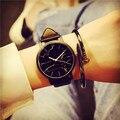 Горячие Продажи Мраморность Полосы Творческий Кварцевые Часы Моды Мраморный Часы Популярные Мужчины Женщины Наручные Часы Miler Марка Кожа Часы