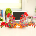 25cm Kids Simulation Cock Cloth Art Zodiac Doll Plush Chicken Toy Present For Kids Stuffed Plush Chook Model Best Gifts WW16