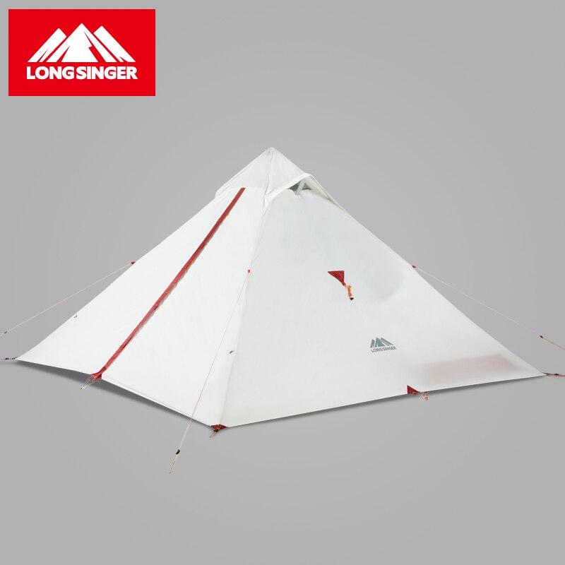 Longsinger G3 Ultra lumière unique silicone d'aventure en plein air tente
