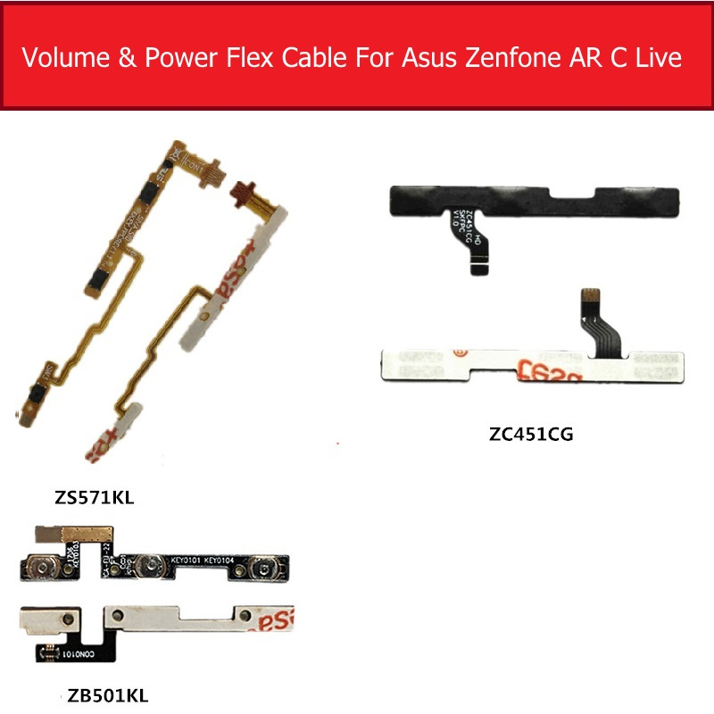 Power Flex Cable For Asus Zenfone AR ZS571KL Volume Flex Cable For Asus Zenfone C ZC451CG Live ZB501KL Side Key Switch Button