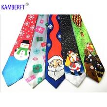New Print 9cm Mens Christmas  Bolo Tie Items Holiday Men Clothing Accessories Neckties Cravata Halloween Kravat Necktie