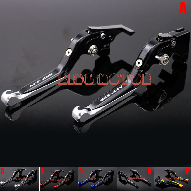 ФОТО For YAMAHA MT-09 FZ-09 MT-09 Tracer 2014-2016 CNC Adjustable Folding Extendable Brake Clutch Levers LOGO MT-09 Silver