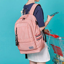 Kadınlar için Harici USB Şarj Sırt Çantası keten sırt çantası Erkek Mochila Escolar Kızlar Laptop Sırt Çantası Okul Çantaları gençler için sırt çantası