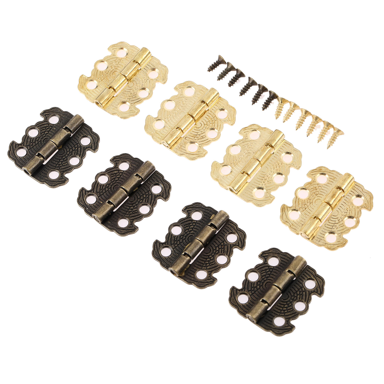 4Pcs 29*27mm Cabinet Hinges Furniture Accessories Jewelry Boxes Small Hinge Furniture Fittings For Cupboard Cabinet Bronze/Gold probrico soft close kitchen cabinet hinges 5 pair chr083hb concealed cupboard door hinge furniture hardware accessories fittings