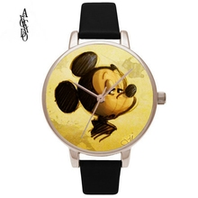 mickey mouse women  luxury brand watch reloj quartz dropshipping new 2018 hot selling relogio feminino Leather