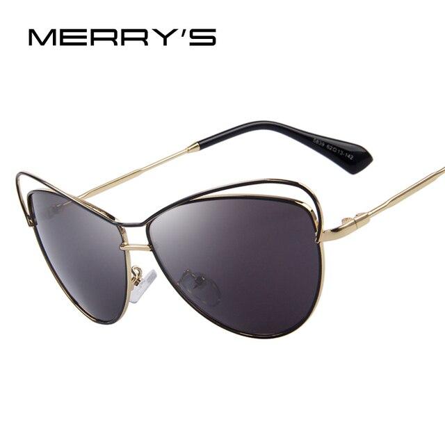 MERRY S Moda Mulheres Óculos De Sol Clássico Marca Designer Cat Eye Shades  óculos de Sol UV400 0b46761b5a