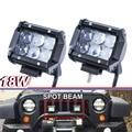 "Pair 18W 4"" Led SPOT Driving Light bar 4D Fish Eye Projector Lens UTE ATV SUV Truck"