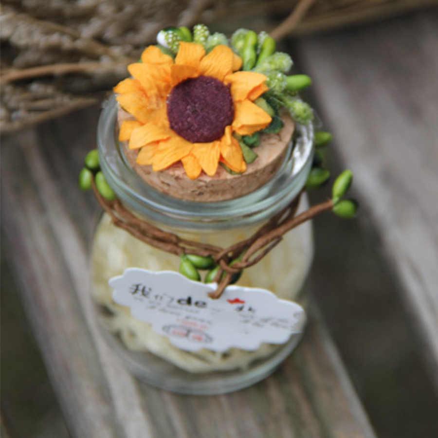 30 cái/lốc Nhân Tạo Trang Trí Hoa Hướng Dương cho hộp quà tặng diy decor giấy hoa cho scrapbooking scrapbooking giá rẻ Thống Daisy A3939