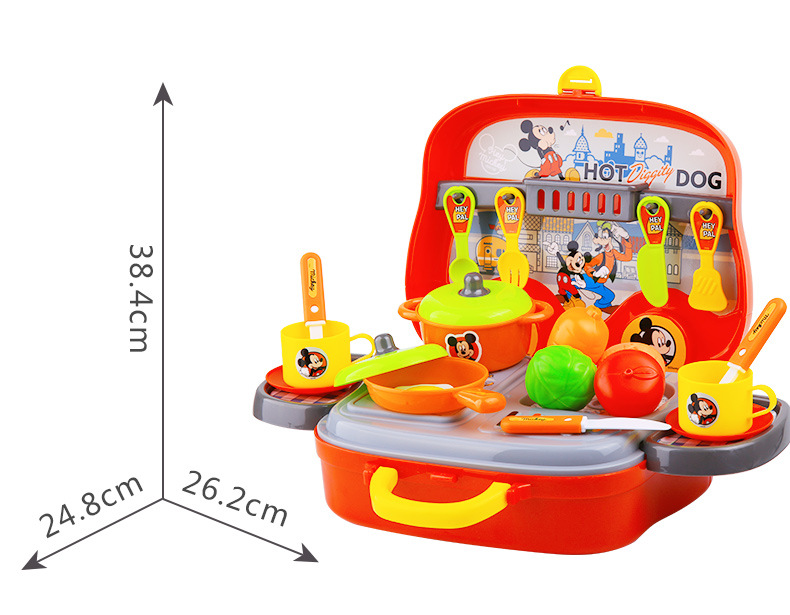 boys play kitchen set lights for ceiling disney mickey toys 3 6 years old and girls cook rice cooking simulation kitchenware in from hobbies on