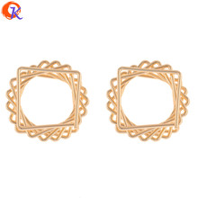 Cordial Design 10Pcs 26*26MM Jewelry Accessories/DIY Earring Making/Genuine Gold Plating/Square Shape/Hand Made/Earring Findings