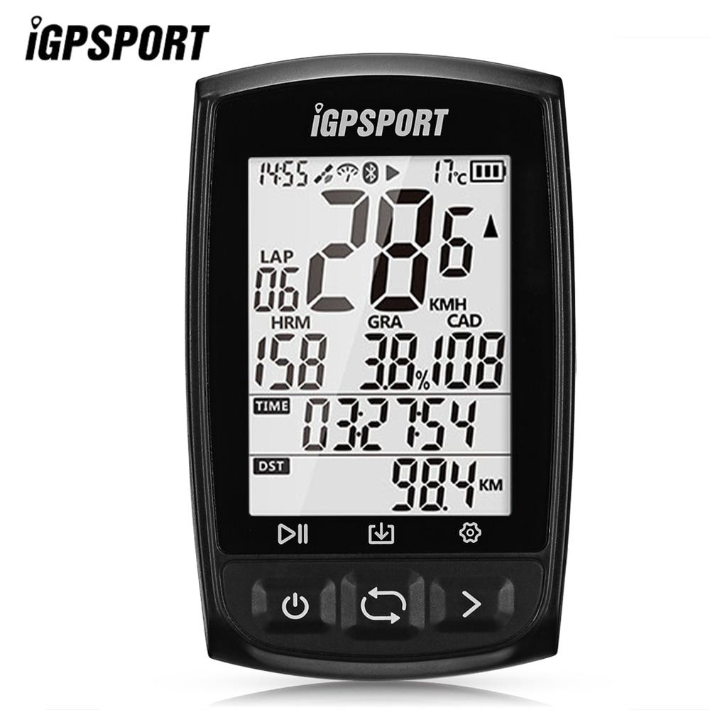 Я gps порт IGS50E велокомпьютер gps Спидометр Водонепроницаемый Велоспорт компьютер Беспроводной ANT + Bluetooth 4,0 цифровой секундомер