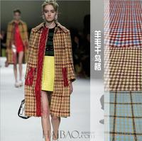 Houndstooth tweed wool woolen fabrics cashmere wool coat fabric fashion Women wool cloth wholesale