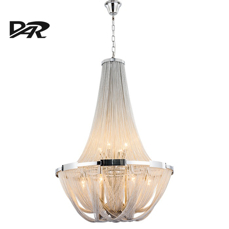 New Design Italy Tassel Pendant Light Silver Aluminum Chain Pendant Lamp Lamparas Lustre Led E14 Pendientes Post Modern Hanglamp aluminum chain tassel pendant lights e14 led silver pendant lamp lamparas colgantes lustre project light pendientes hanglamp new