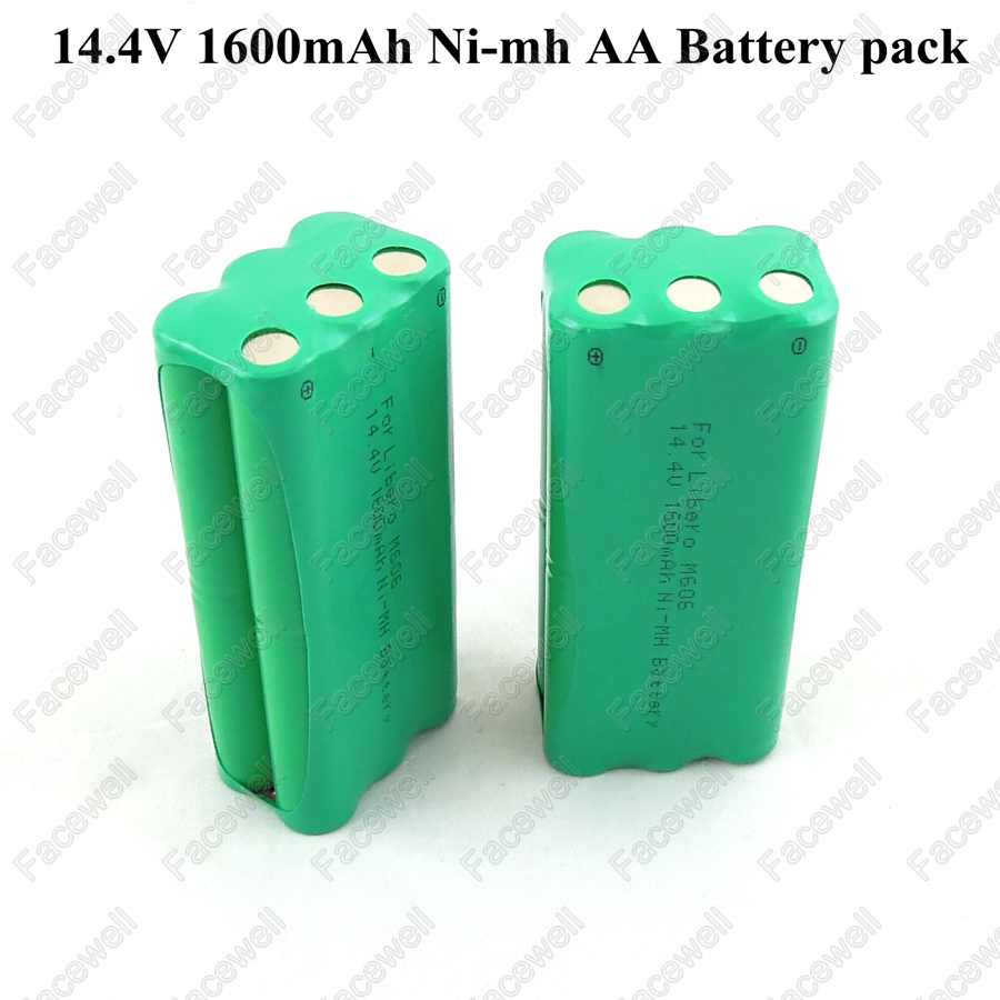 Battery 14.4v ni-mh rechargeable 14.4v AA 1600mah Nimh battery pack fo Papago S30C intelligent sweeping robot VONE T285D cleaner plastic