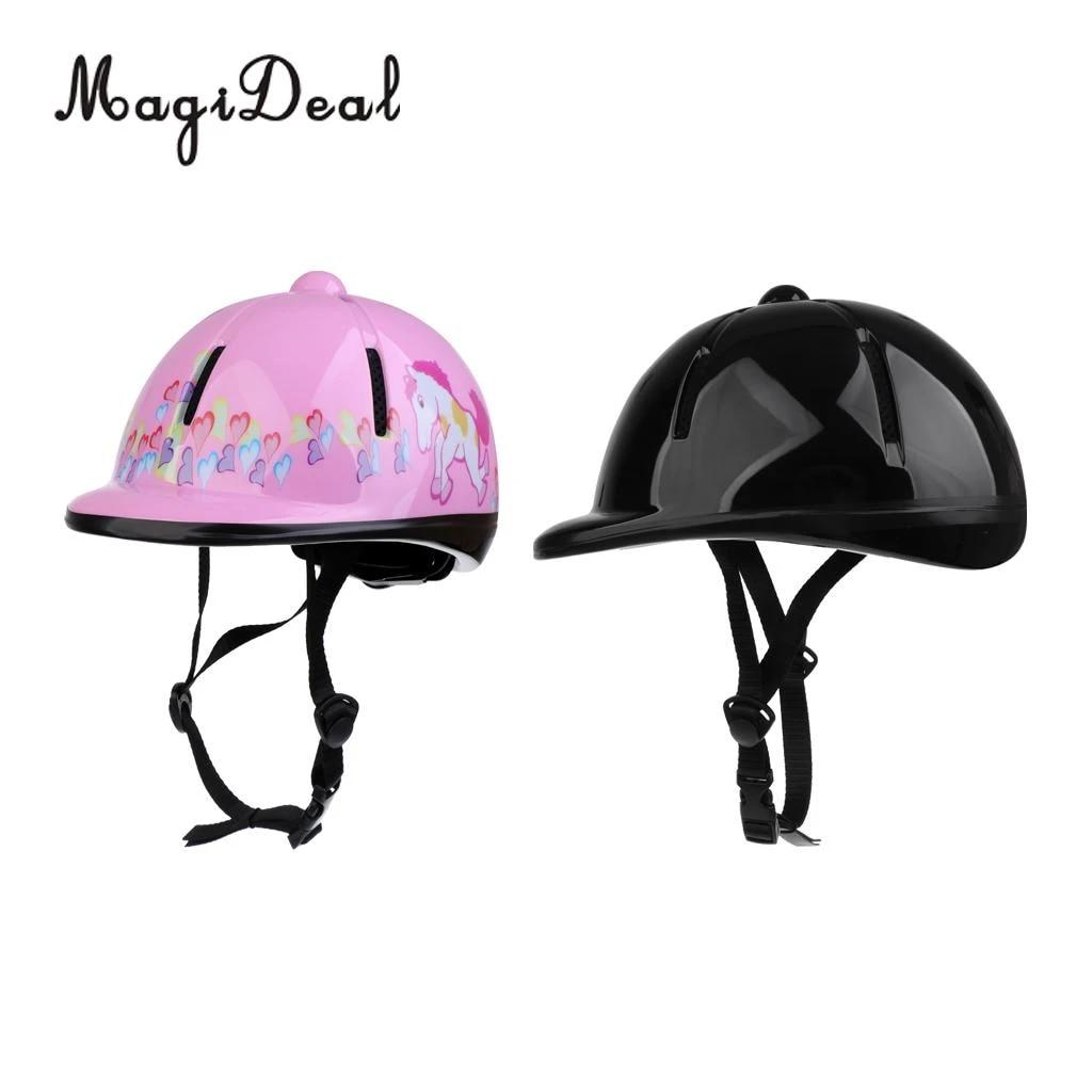 Magideal 2 Pcs Kids Adjustable Horse Riding Hat Helmet Head Protective Gear Pink Black Horse Riding Hat Head Protectionhorse Riding Aliexpress