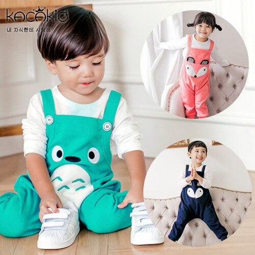 Fashion Newborn Baby 0-2years Fox Pattern Bib Overalls Kids Boys Girls Cute Pants Trousers Bobo Choses Bebe Clothing Free Ship!