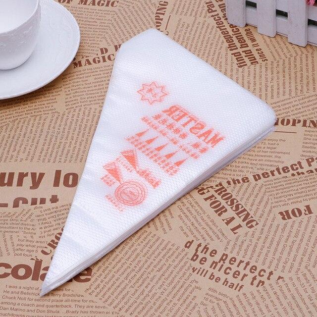 Nuevo 100 unids/pack tamaño pequeño bolsa de tubería desechable glaseado Fondant pastel crema decoración pastelería punta Tool-Y102