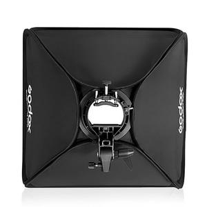 Image 5 - Godox 60x60 cm Softbox Kit Flash Diffusor + S typ Halterung Bowens Halter für Canon Nikon Flash speedlite 60*60 cm Weichen box