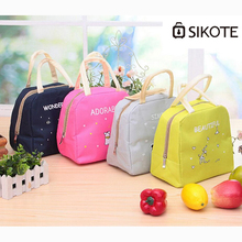 SIKOTE Portable Thick Lunch Bags Lunch Bag Kid Women Men Ice Bag Thermal Food Picnic Launch Box Lancheira Marmita