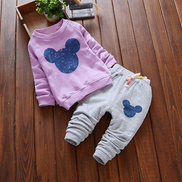 Bear Leader Baby Girls Clothes Casual Spring Baby Clothing Sets Cartoon Printing Sweatshirts+Casual Pants 2Pcs for Baby Clothes 3