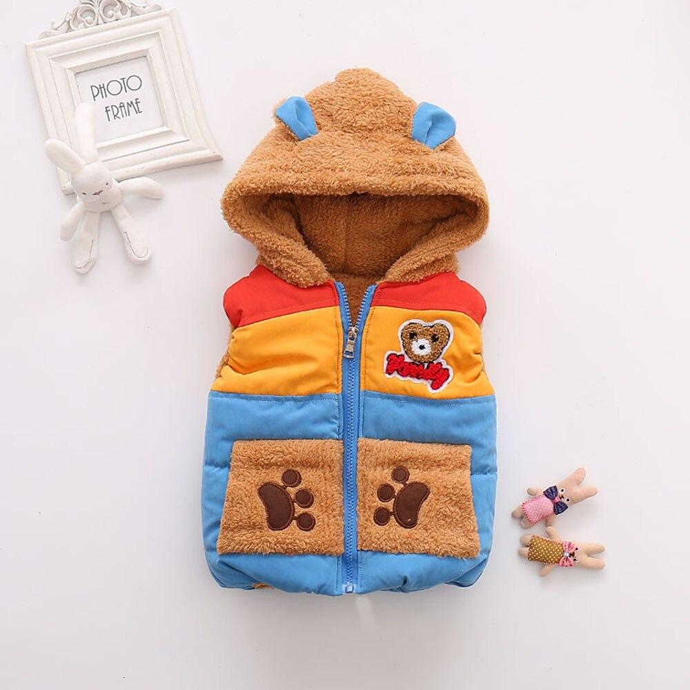 Ben Informato Autunno Inverno Ragazzi Dei Capretti Del Bambino Snowsuit Orso Del Fumetto Con Cappuccio Vestiti Caldi