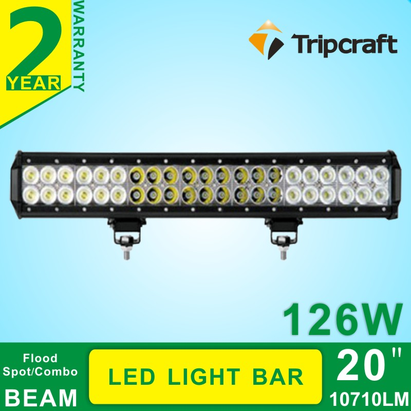 Free Shipping High Power 126W LED Light Bar for offroad truck