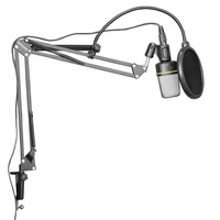 Neewer Extendable Recording Microphone Holder Suspension Boom Scissor Arm Stand Holder With Mic Clip Table Mounting