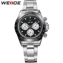 Горячая распродажа! WEIDE военная часы мужчины люксовый бренд полный стали дизайн япония кварцевый механизм водонепроницаемым дайвер часы бесплатная доставка