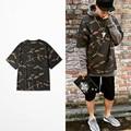 2016 Falso Yeezys Hip Hop Yezzy Mens T-Shirt Hombres de Camuflaje Militar Manga corta Del O-cuello Yeezy de Kanye West Camiseta Temporada 1 2 3