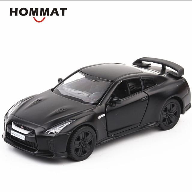 HOMMAT Simulation 1:36 Scale Matt Black Nissan GTR GT-R R35 Model Car Diecasts & Toy Vehicles Car Model Cars Toys For Children
