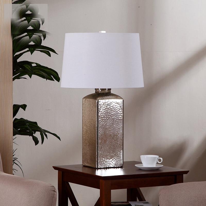 Покрытие Сильвен Стекло настольная лампа Гостиная ночники Декор E27 110-240 В
