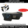 Asistencia de aparcamiento SONY CCD HD Retrovisor Del Coche Sin Hilos Color de Copia de seguridad Cámara de visión nocturna para Ford Mondeo Fiesta Focus S-Max KUGA