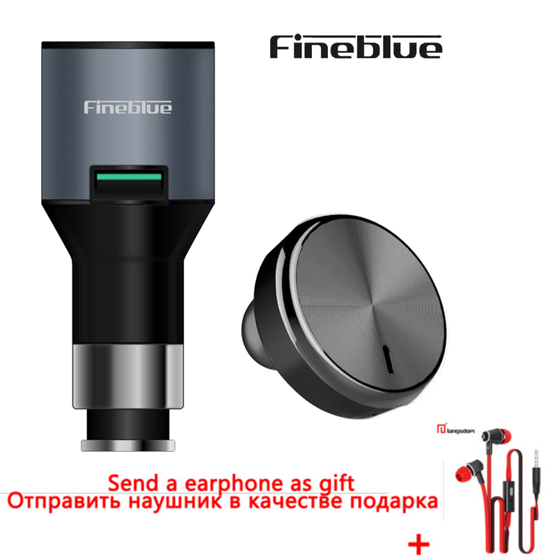 Fineblue F-458 Ear Hook Earphone Bluetooth Headset Monaural Car Charger 2 In 1 For Samsung Xiaomi iPhone 7 Handsfree Earphones original r6000 wireless headphone bluetooth headset for samsung xiaomi iphone 7 car charger 2 in 1 bluetooth earphone