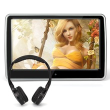 Pumpkin 10.1 Inch HD Digital Touch Screen Car Headrest DVD Player Ultra-thin Detachable One IR Headphone