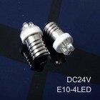 High quality led 24v E10 instrument lights,24v e10 LED indicating lamp,24v car E10 bulbs led e10 24vdc free shipping 100pcs/lot