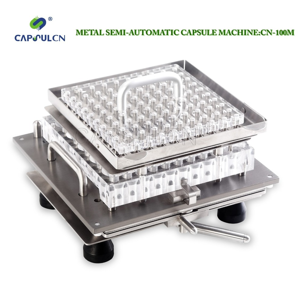 CapsulCN-100M Size 5 Stainless Steel Semi-Automatic Capsule Maker, Capsule Filling Machine  double hopper stainless steel semi automatic food chemical particle filling machine